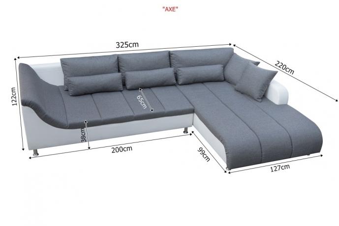 AXE izvelkamais stūra dīvāns