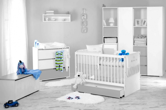 Dalia Grey mēbeļu komplekts bērnu istabai