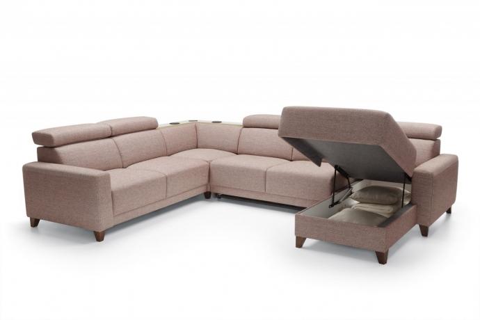 Stūra dīvāns KELLY 2BF ar iebūvētu audio sistēmu