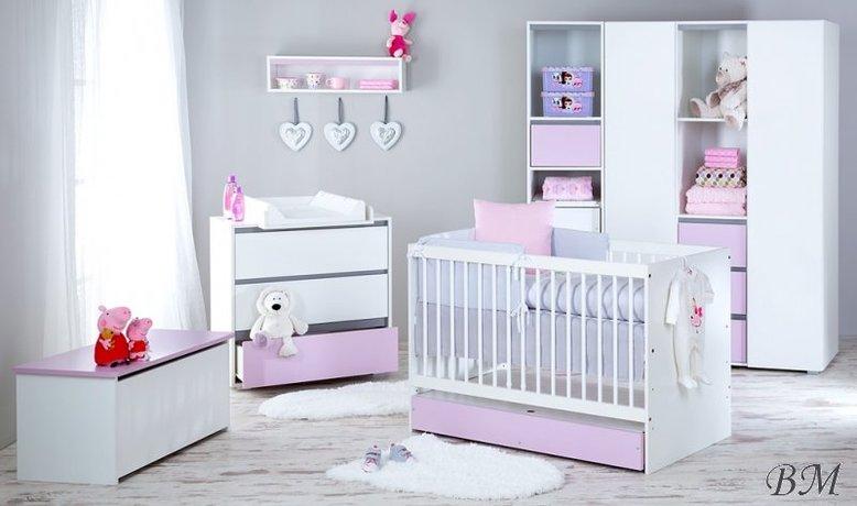Dalia Pink mēbeļu komplekts bērnu istabai