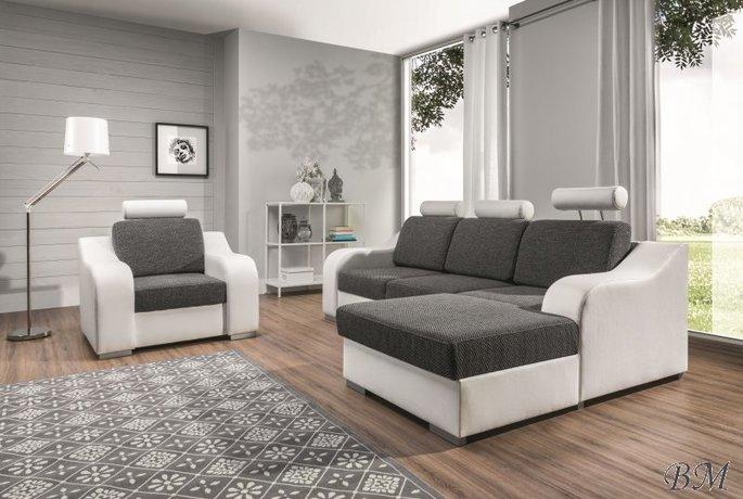 Lucy  izvelkamais stūra dīvāns