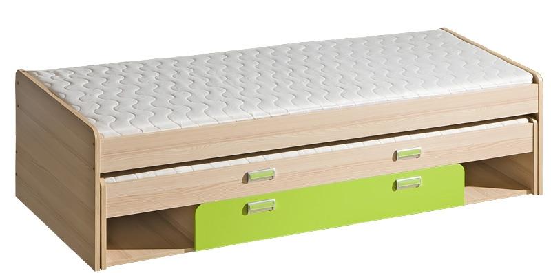 Legoo L16 Divvietīgā gulta ar veļas kasti