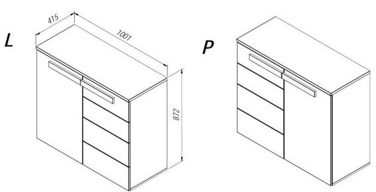 LTSK25-Q29 Kumode LATIS Forte (Komoda L/P)