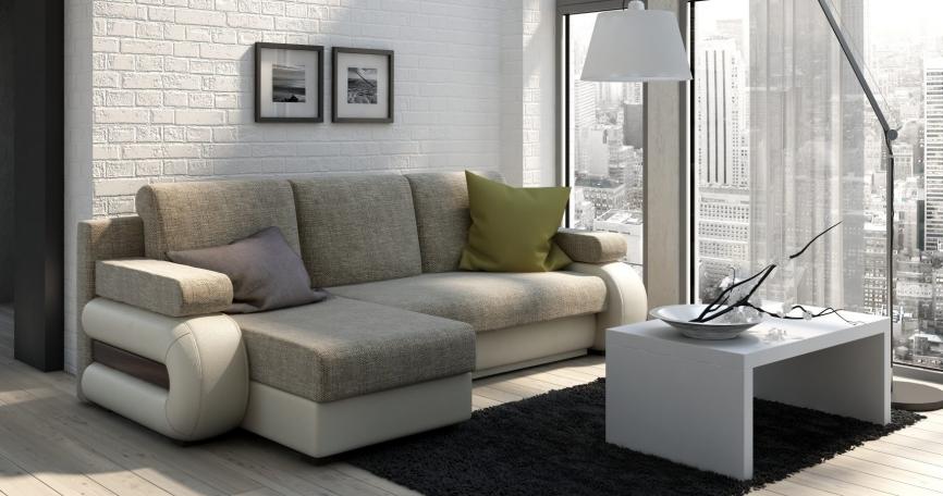 Tigra izvelkamais stūra dīvāns