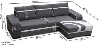 FLORES izvelkamais stūra dīvāns