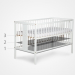 DALIA bērnu gultiņa 120x60