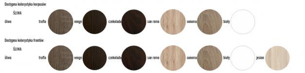 Skapis  OLIWIER 5/6 x 0,4 + lustro