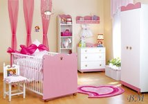 Princese mēbeļu komplekts bērnu istabai